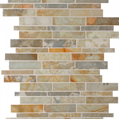 White Gold Lineal Mosaic