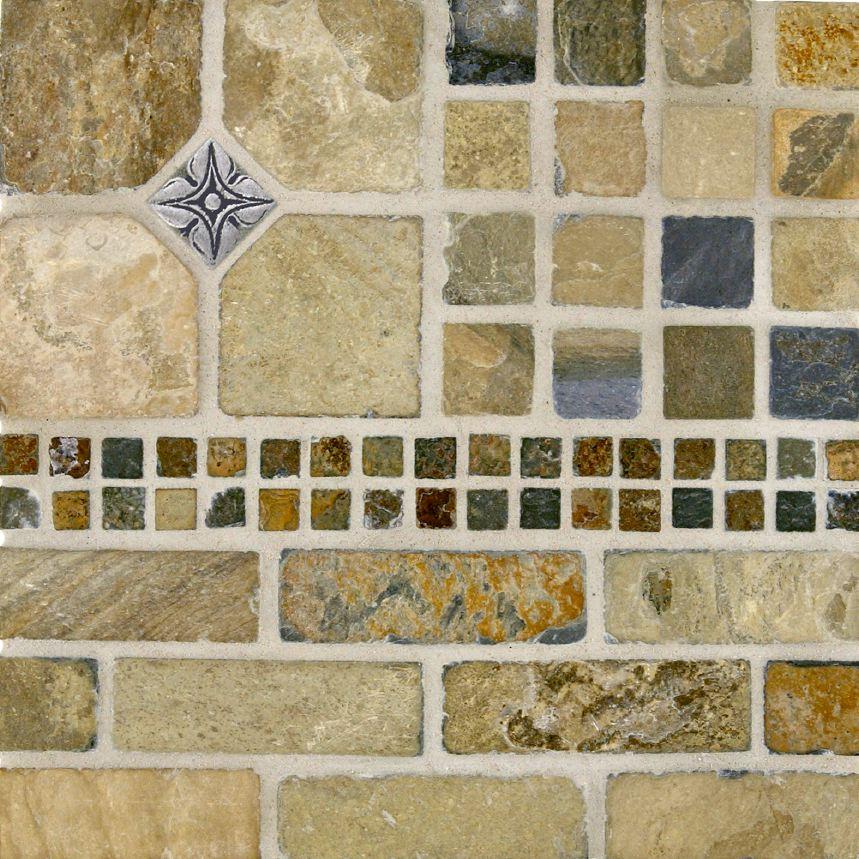 Tumbled Slate Tile Kitchen Backsplash And Showers