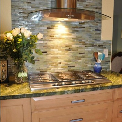 Stone and pewter Backsplash