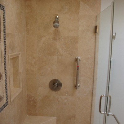 Travertine tile glass mosaic