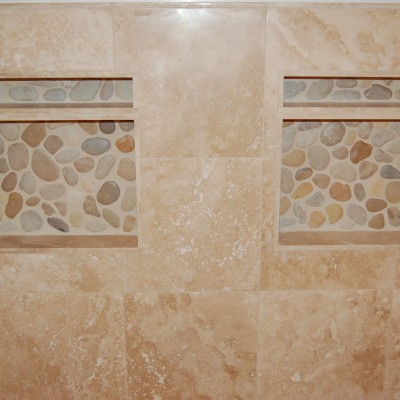 Travertine tile pebble stone