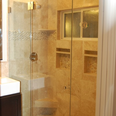 Travertine tile pebble tile