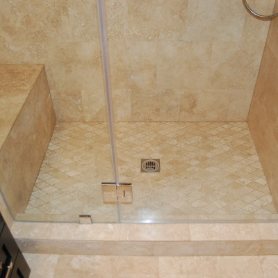 Travertine tile rhomboid mosaic