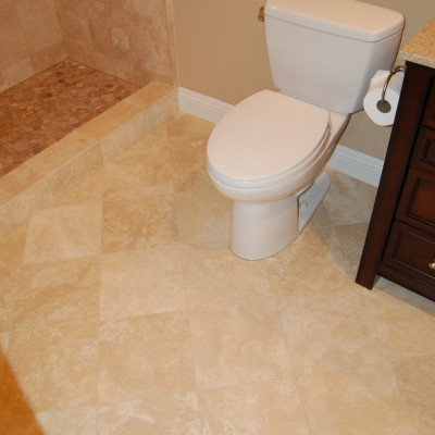 Travertine tile river rock