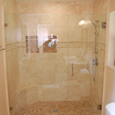 Travertine tile riverock