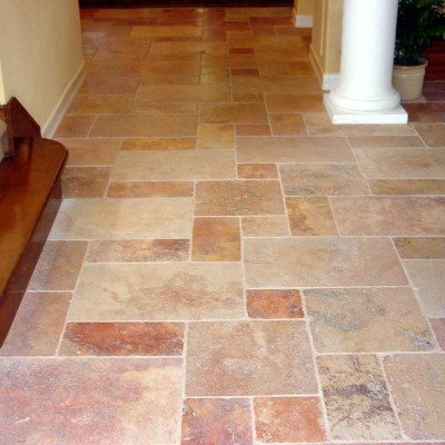 Travertine versailles floor