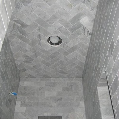 White carrera subway shower