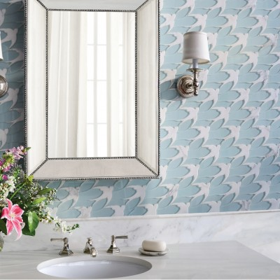 Flock stone and Serenity glass mosaic