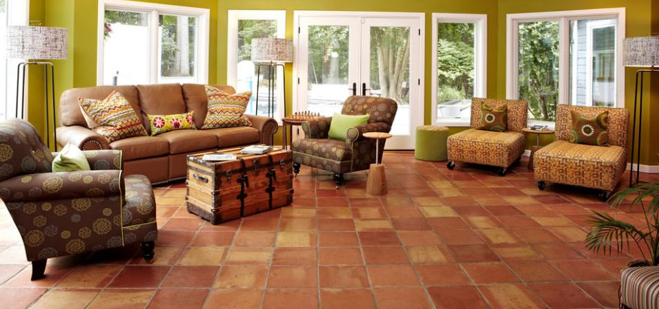 Saltillo-Tile-in-Living-Room