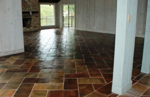 Saltillo Tile Living Room Space