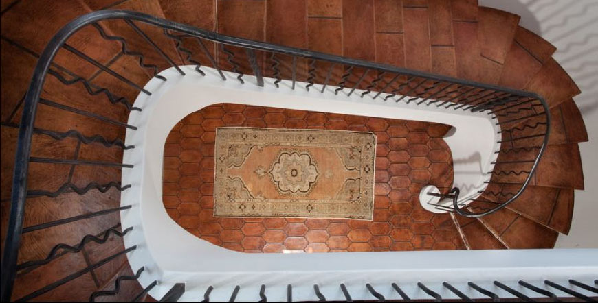 Saltillo and Talavera Tile Staircase