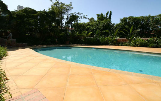 Concrete Tile Flooring on Outdoor Patios