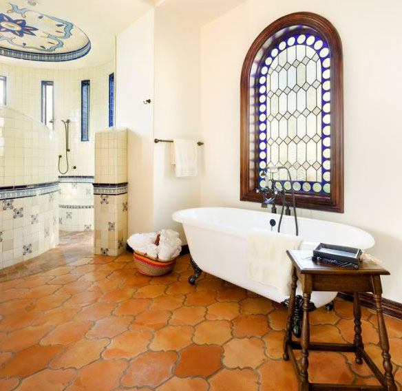 saltillo-tile-bathroom-flooring