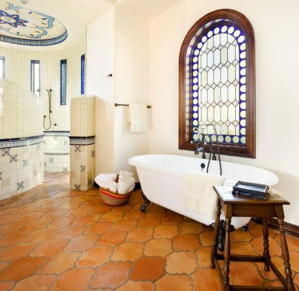 saltillo-tile-bathroom-flooring