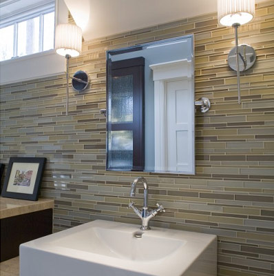 Glass Tile Bathroom Wall