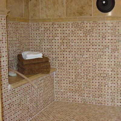 Superbe Mosaic Bathroom Wall