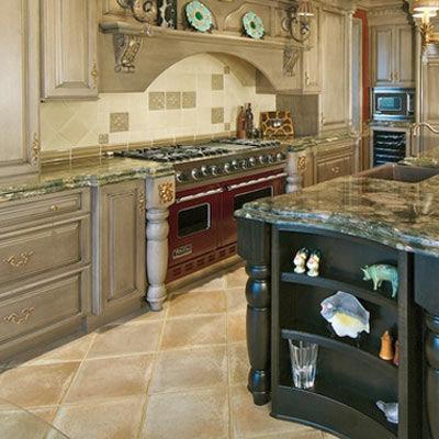 Granite Tile Kitchen Floor