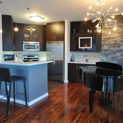 Wood Floor Tile Kitchen