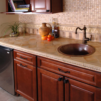 Ceramic Tile Kitchen Countertop