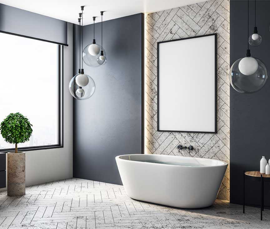 Diagonal Pattern for small bathrooms