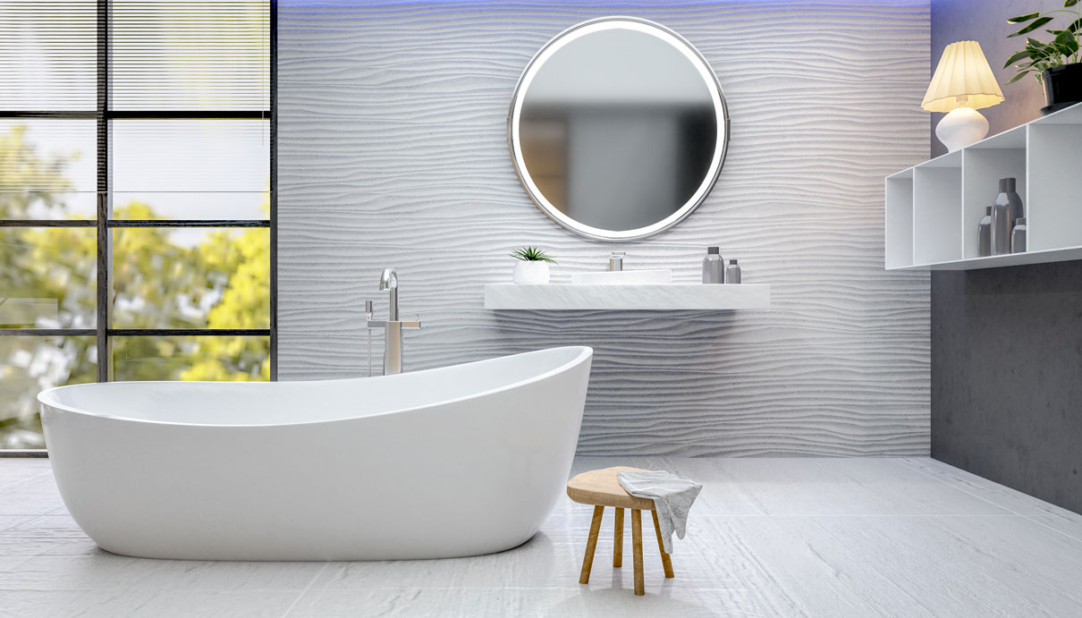 Three-Dimensional Tiles Trend 2020