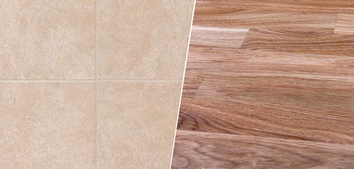 Ceramic Tile Versus Hardwood