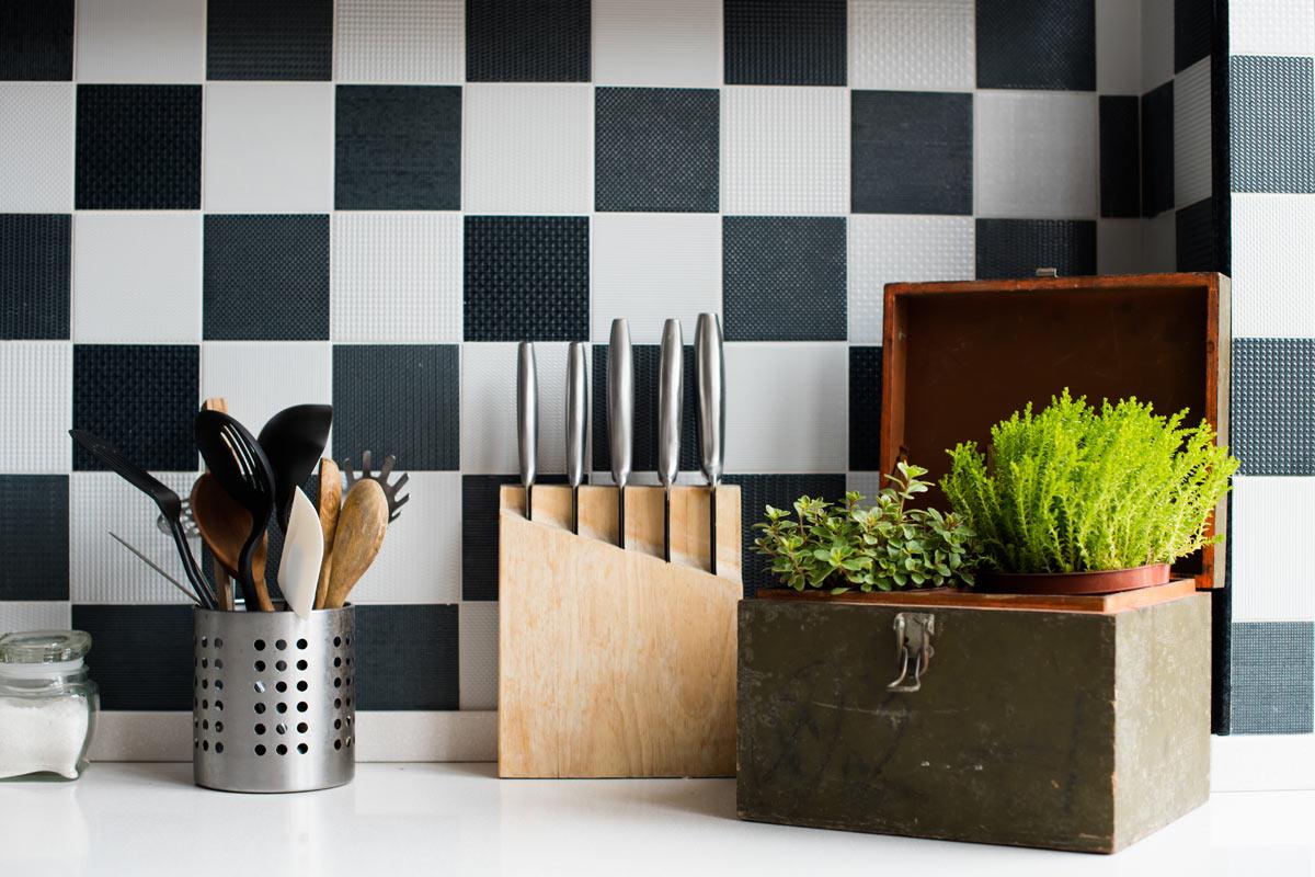 Square Kitchen Tile Design Ideas