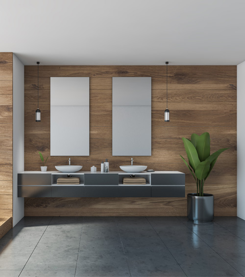 Beautifull Bathroom Grey Tile Flooring